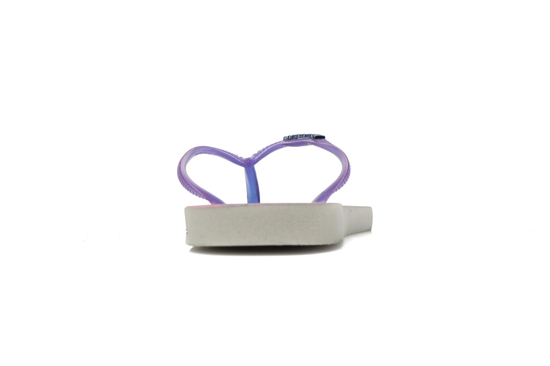 Slim Paisage White purple