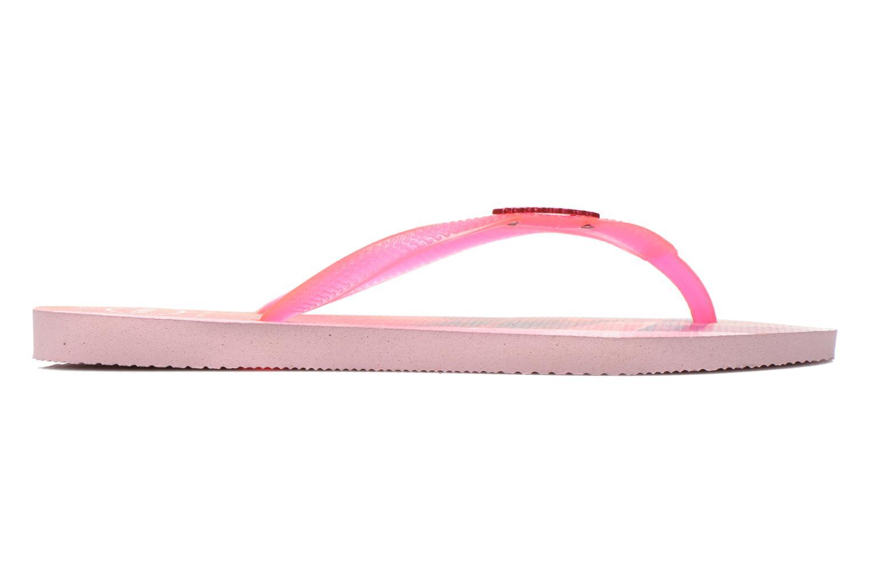 Zehensandalen Havaianas Slim Paisage rosa ansicht von hinten