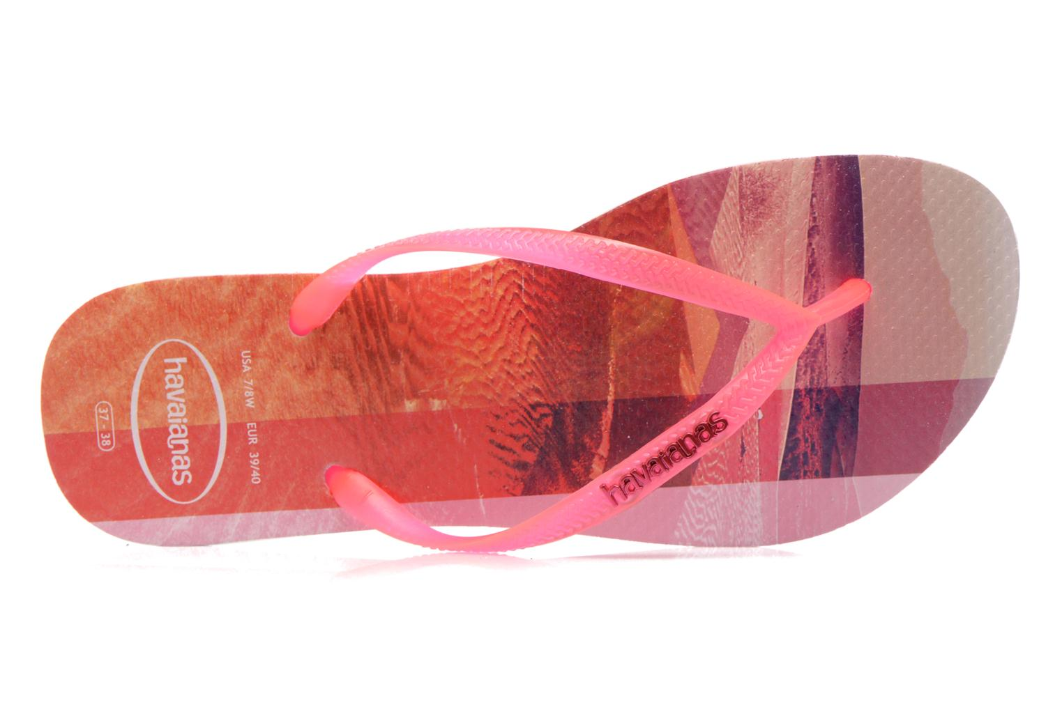 Flip flops Havaianas Slim Paisage Pink view from the left