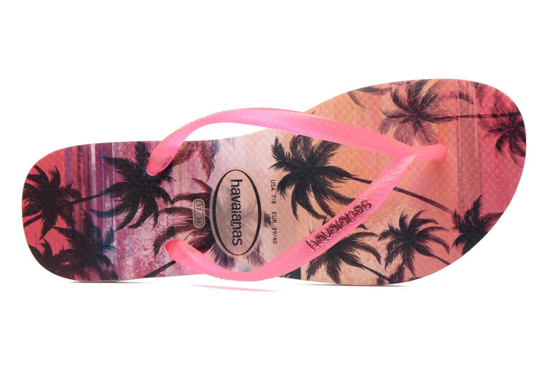 Tongs Havaianas Slim Paisage Rose vue gauche
