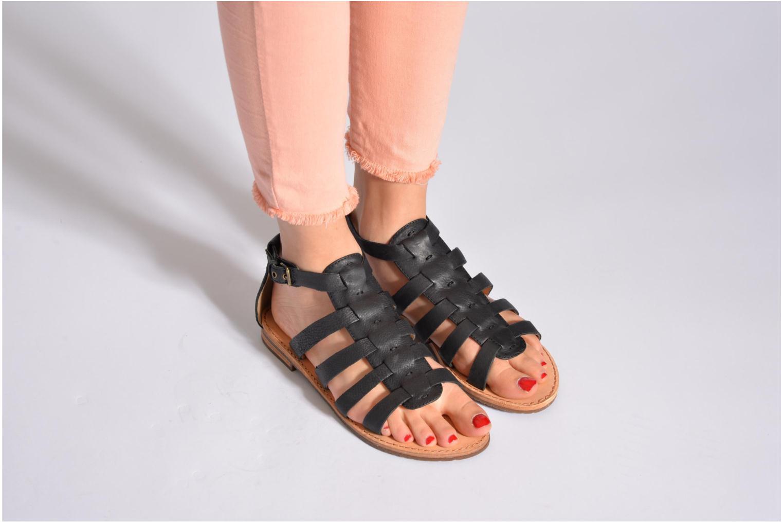 Sandales et nu-pieds Geox D JOLANDA D D5275D Noir vue bas / vue portée sac