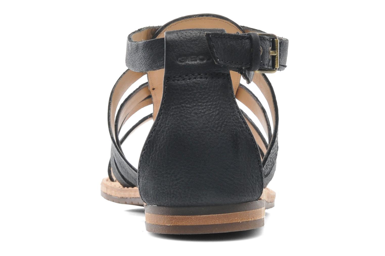Sandales et nu-pieds Geox D JOLANDA D D5275D Noir vue droite