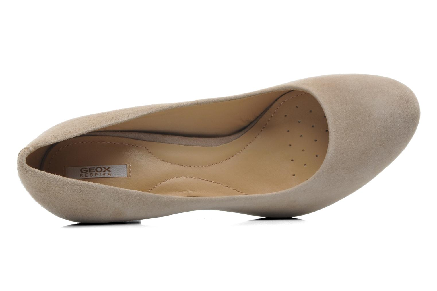 High heels Geox D NEW MARIELE H. A D5298A Beige view from the left