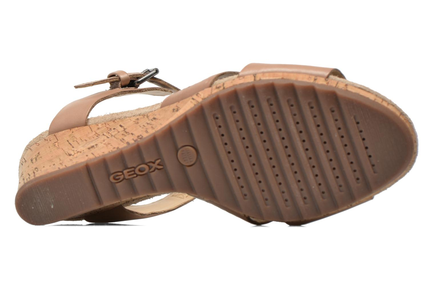 Sandals Geox D ALIAS A D52C3A Brown view from above