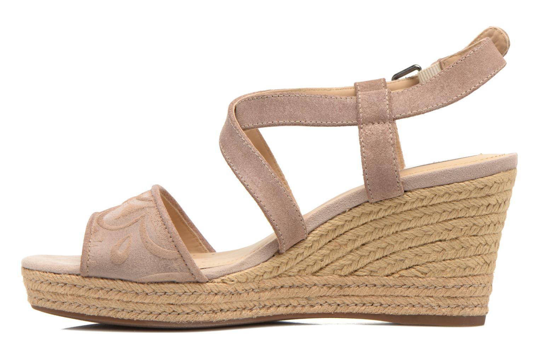 Sandales et nu-pieds Geox D SOLEIL A D52N7A Marron vue face