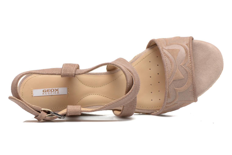Sandales et nu-pieds Geox D SOLEIL A D52N7A Marron vue gauche