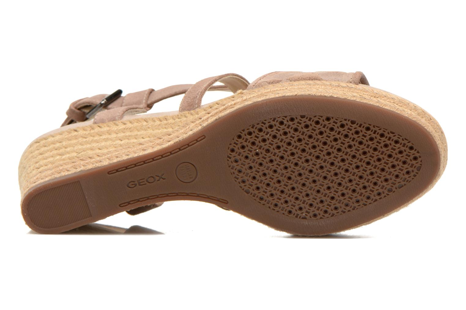 Sandals Geox D SOLEIL A D52N7A Brown view from above