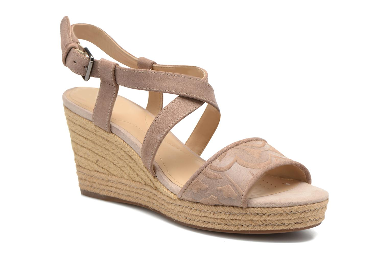 Sandales et nu-pieds Geox D SOLEIL A D52N7A Marron vue détail/paire
