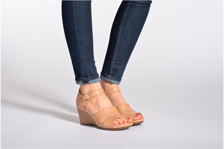 Sandales et nu-pieds Geox D NEW Rorie F D52P3F Orange vue bas / vue portée sac