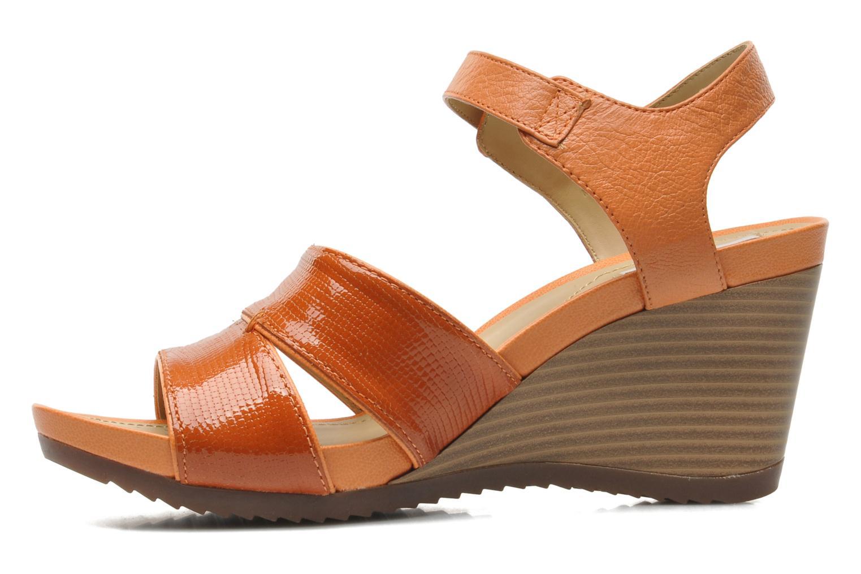 Sandales et nu-pieds Geox D NEW Rorie F D52P3F Orange vue face