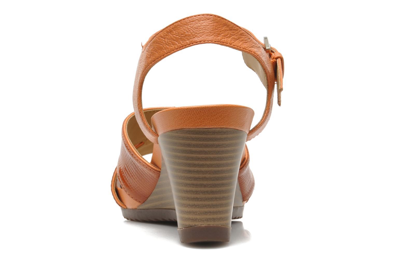 Sandales et nu-pieds Geox D NEW Rorie F D52P3F Orange vue droite
