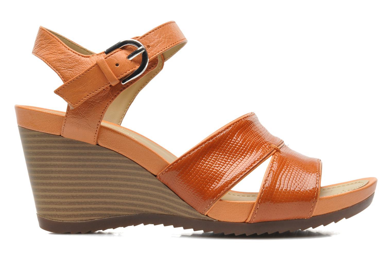 Sandales et nu-pieds Geox D NEW Rorie F D52P3F Orange vue derrière