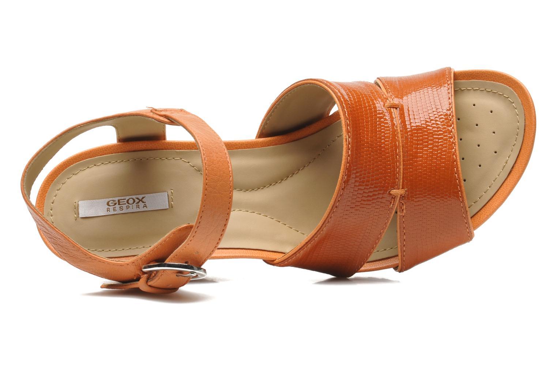 Sandales et nu-pieds Geox D NEW Rorie F D52P3F Orange vue gauche