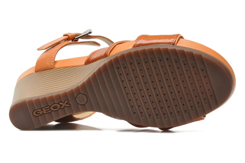 Sandales et nu-pieds Geox D NEW Rorie F D52P3F Orange vue haut