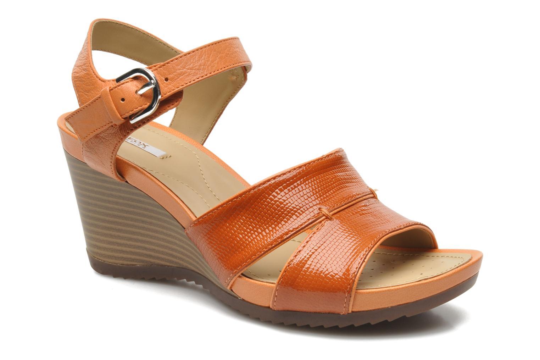 Sandales et nu-pieds Geox D NEW Rorie F D52P3F Orange vue détail/paire