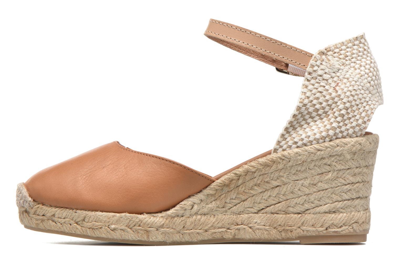 Sandales et nu-pieds Maypol Lola Marron vue face