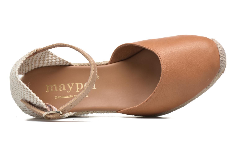 Sandales et nu-pieds Maypol Lola Marron vue gauche