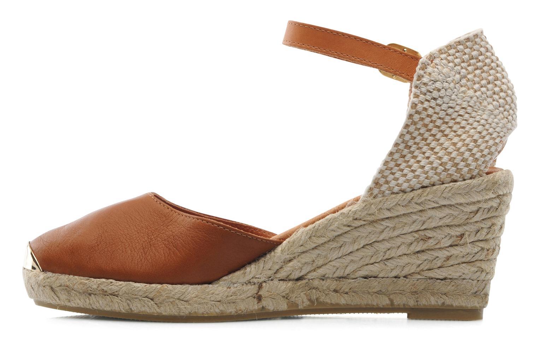 Sandales et nu-pieds Maypol Luz Marron vue face