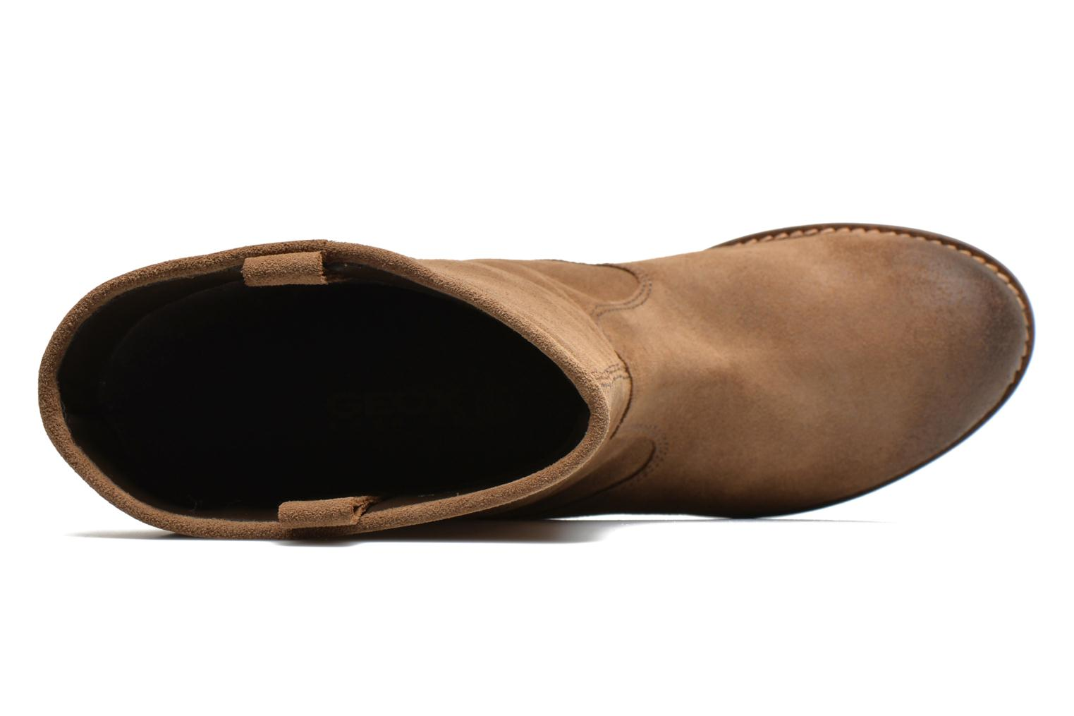 Ankle boots Geox D Virna B ABX A D44N5A Brown view from the left