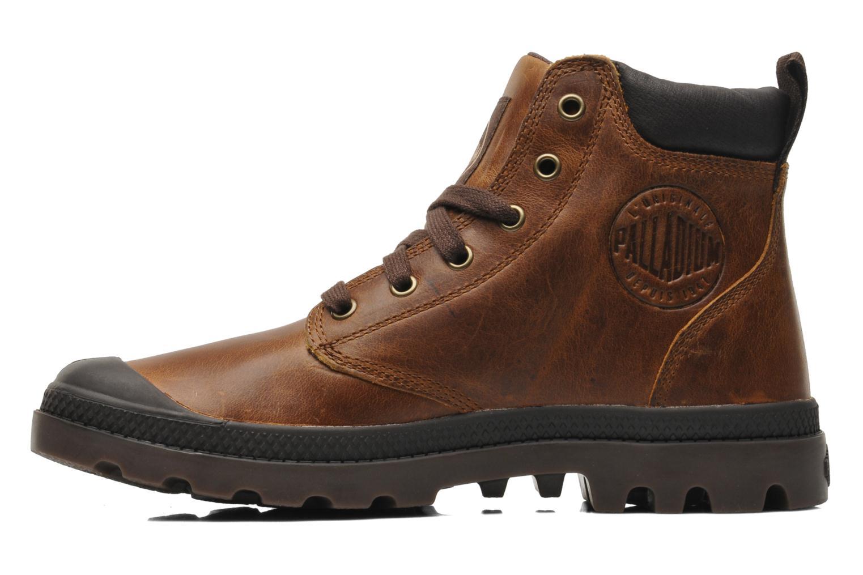 Boots en enkellaarsjes Palladium Pampa Hi Cufl H Bruin voorkant