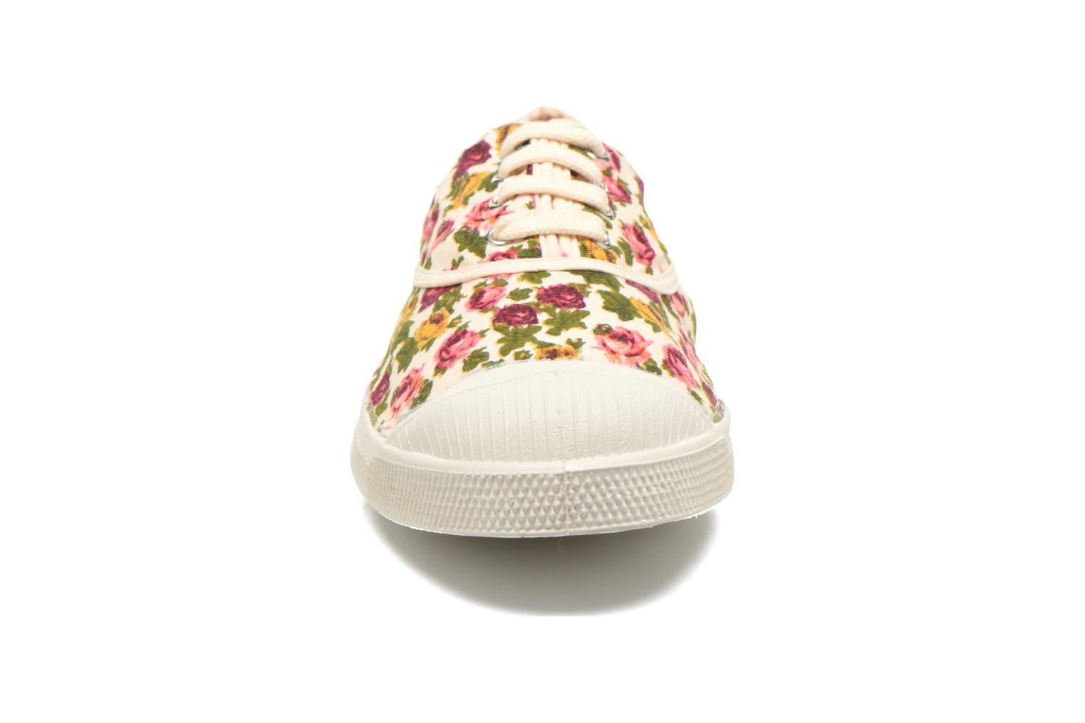 Sneakers Bensimon Tennis Paco Chicano Fleurs Multicolore modello indossato