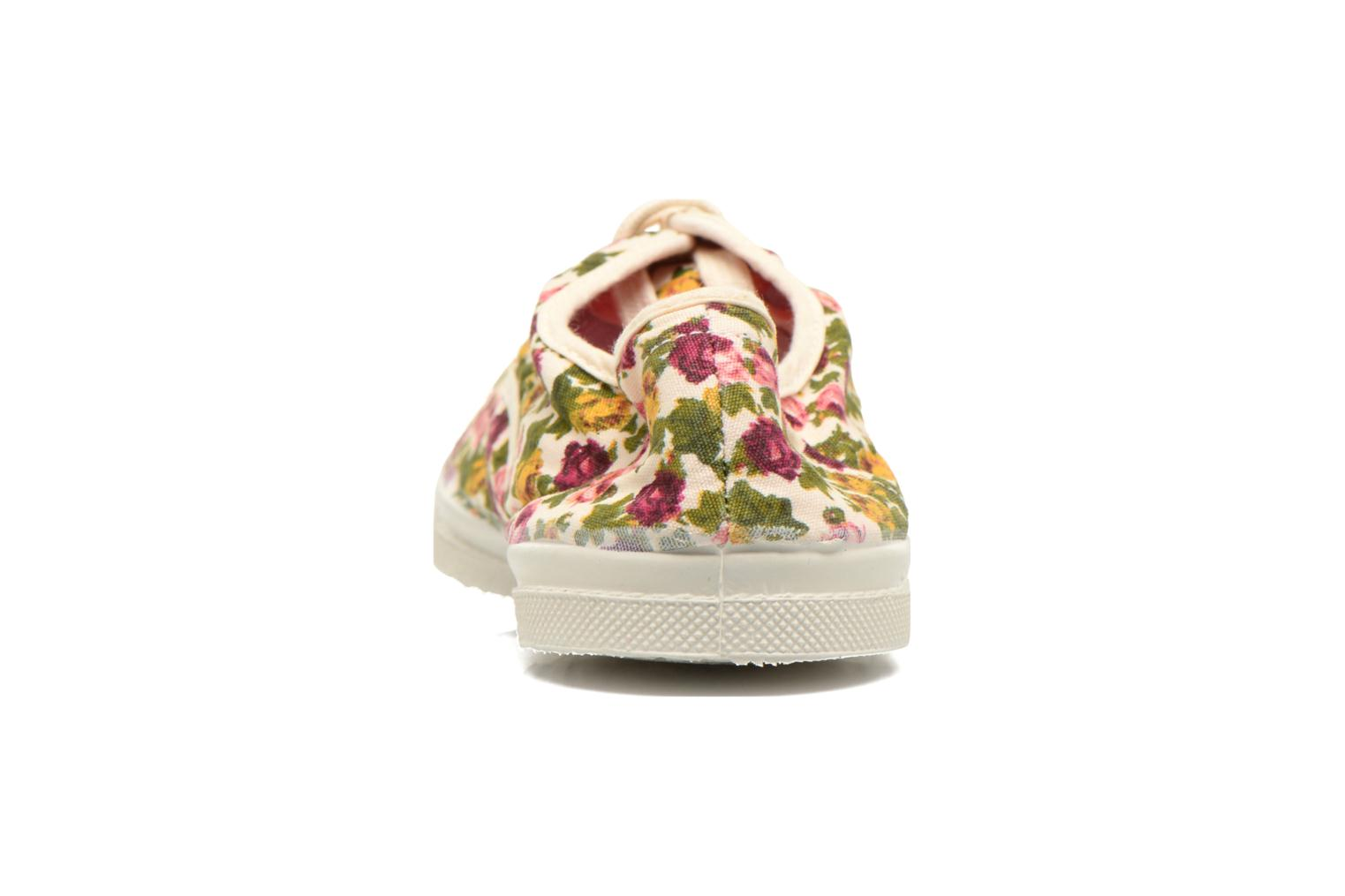 Trainers Bensimon Tennis Paco Chicano Fleurs Multicolor back view