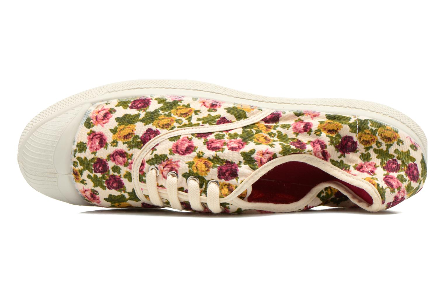Trainers Bensimon Tennis Paco Chicano Fleurs Multicolor view from the left