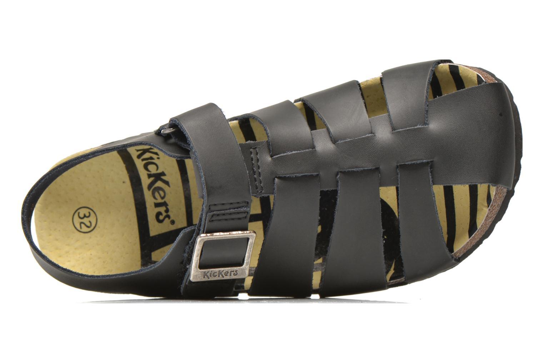 Sandales et nu-pieds Kickers MAGIFLO Noir vue gauche