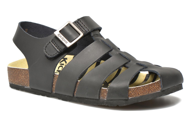 Sandales et nu-pieds Kickers MAGIFLO Noir vue détail/paire