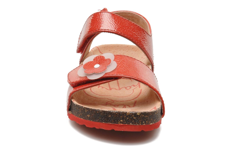 Sandalen Kickers MAGILOVE rot schuhe getragen