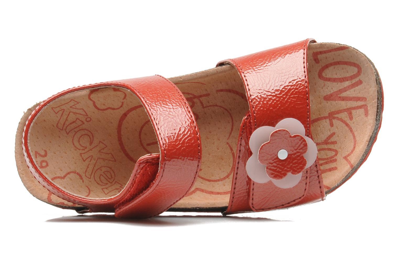 Sandalen Kickers MAGILOVE rot ansicht von links
