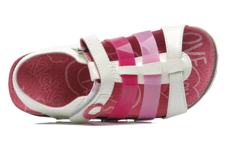 Sandales et nu-pieds Kickers MAGIPLAY Blanc vue gauche