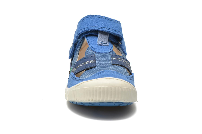 Chaussures à scratch Kickers ZIGUERO Bleu vue portées chaussures