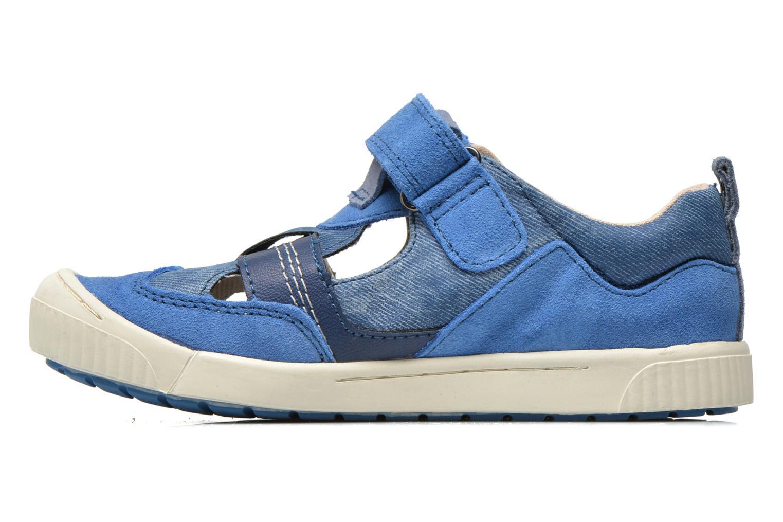 Chaussures à scratch Kickers ZIGUERO Bleu vue face