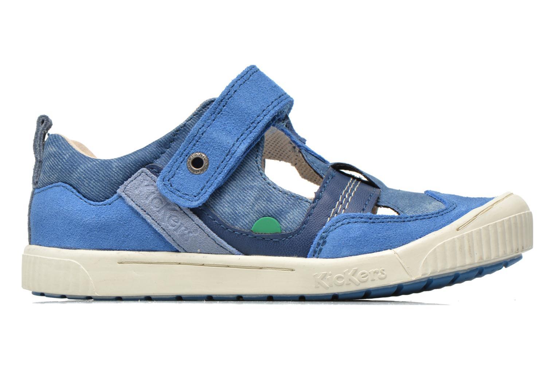 Chaussures à scratch Kickers ZIGUERO Bleu vue derrière