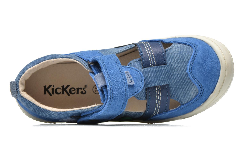 Chaussures à scratch Kickers ZIGUERO Bleu vue gauche