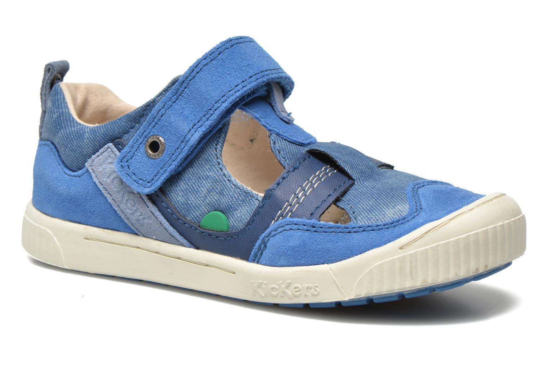 Schoenen met klitteband Kickers ZIGUERO Blauw detail