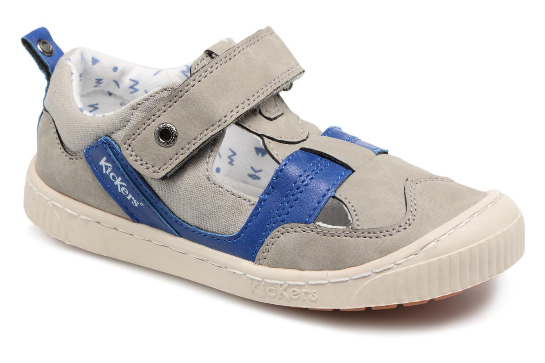 Chaussures à scratch Kickers ZIGUERO Gris vue détail/paire