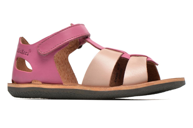 Sandalen Kickers SPAZZO beige ansicht von hinten