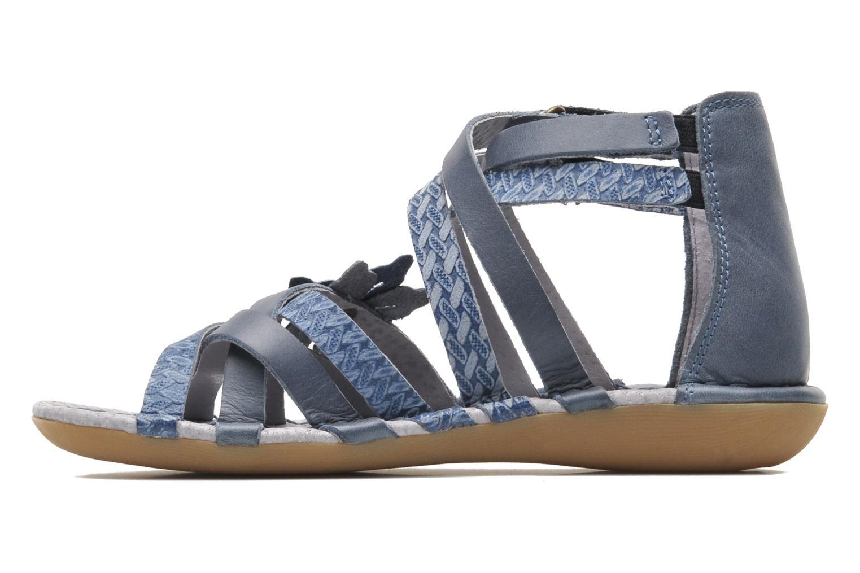 Sandales et nu-pieds Kickers EVITA Bleu vue face