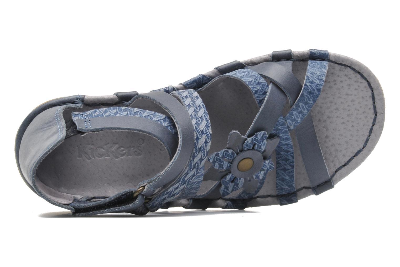 Sandales et nu-pieds Kickers EVITA Bleu vue gauche