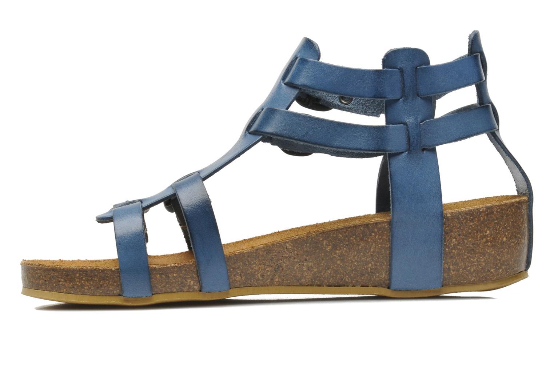 Sandales et nu-pieds Kickers BOMDIA Bleu vue face