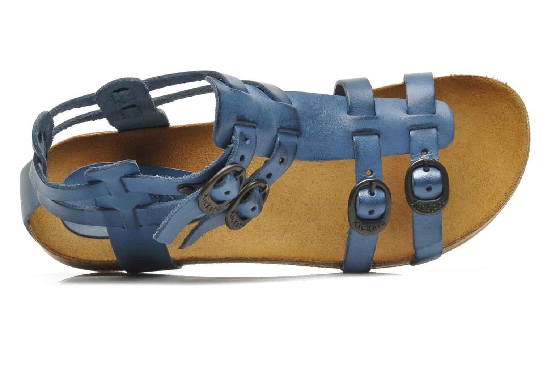 Sandales et nu-pieds Kickers BOMDIA Bleu vue gauche