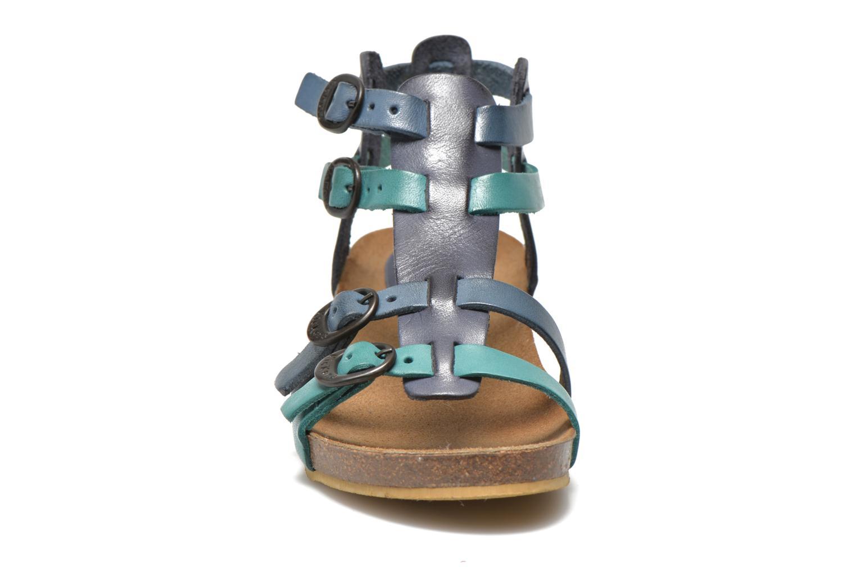 Sandalen Kickers BOMDIA blau schuhe getragen