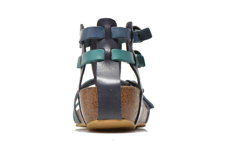 Sandalen Kickers BOMDIA blau ansicht von rechts