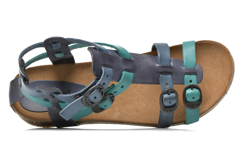 Sandalen Kickers BOMDIA blau ansicht von links