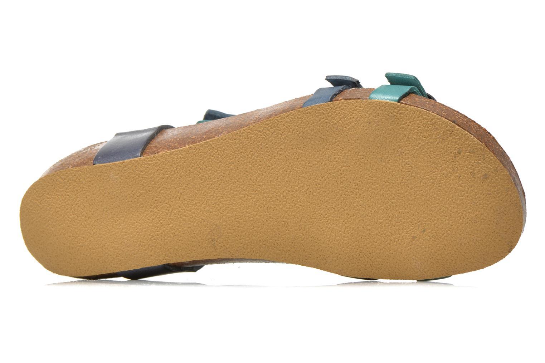 Sandales et nu-pieds Kickers BOMDIA Bleu vue haut