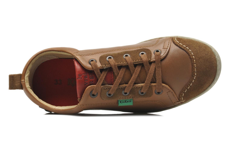 Sneaker Kickers AMOUR braun ansicht von links