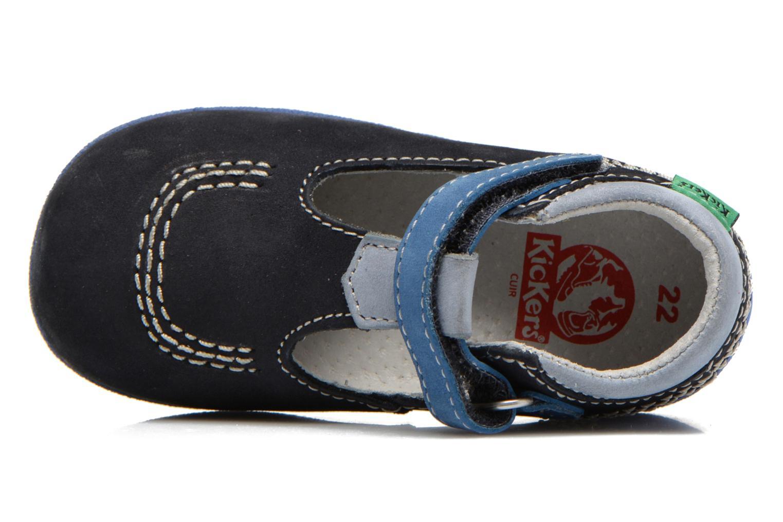 Botines de verano Kickers BABYFRESH Azul vista lateral izquierda