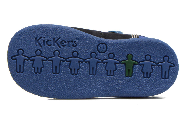Botines de verano Kickers BABYFRESH Azul vista de arriba